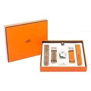 Hermes Stainless Steel Leather Belt Watch Set